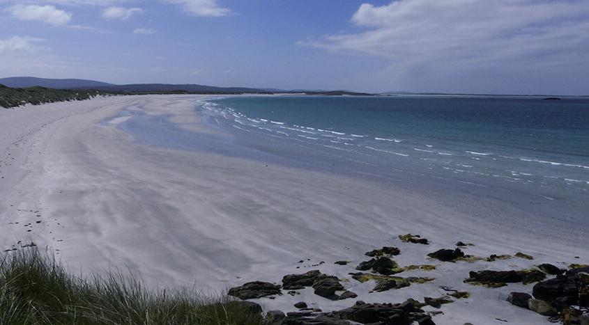Hebridean beach safari onTraigh Hornais, North Uist